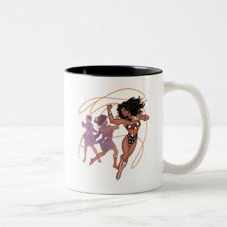 Wonder Woman Diana Prince Transformation Two-Tone Coffee Mug