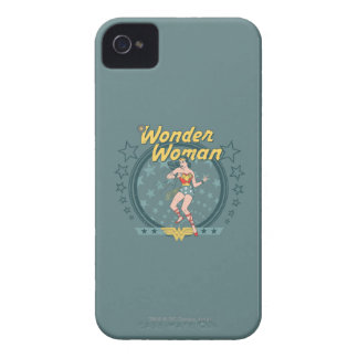 Wonder Woman Distressed Star Design iPhone 4 Case-Mate Cases