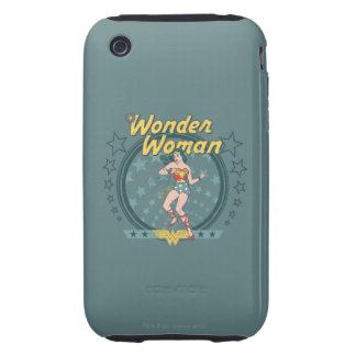 Wonder Woman Distressed Star Design Tough iPhone 3 Cover
