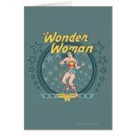 Wonder Woman Distressed Star Design Greeting Card