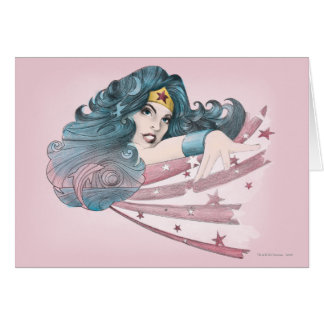 Wonder Woman Dolphin and Stripes Greeting Cards