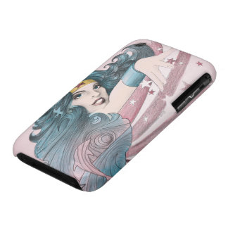 Wonder Woman Dolphin and Stripes Case-Mate iPhone 3 Cases