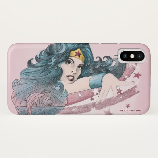 Wonder Woman Dolphin and Stripes iPhone X Case