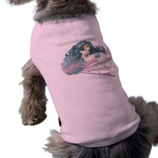 Wonder Woman Dolphin and Stripes Doggie Tshirt