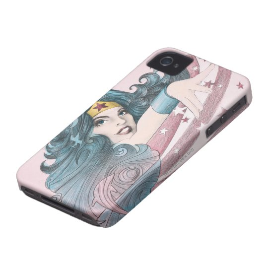Wonder Woman Dolphin and Stripes iPhone 4 Case-Mate Case