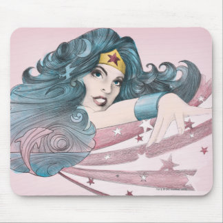 Wonder Woman Dolphin and Stripes Mouse Pad