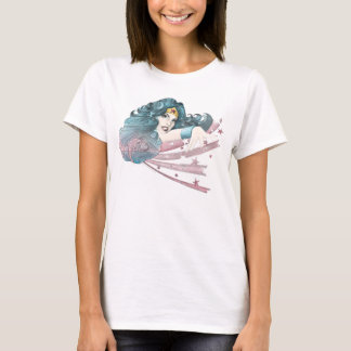 Wonder Woman Dolphin and Stripes T-Shirt