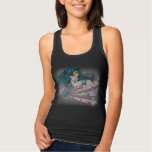 Wonder Woman Dolphin and Stripes Tank Top