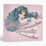 Wonder Woman Dolphin and Stripes Vinyl Binders