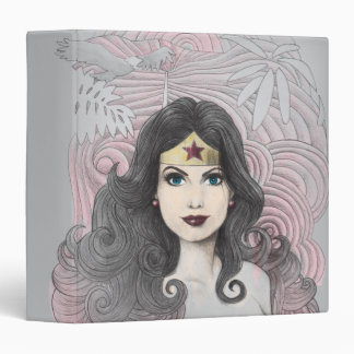 Wonder Woman Eagle and Trees Binder