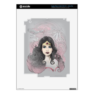 Wonder Woman Eagle and Trees Decals For iPad 3