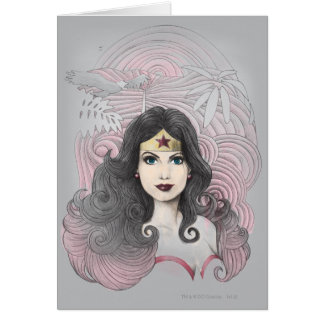 Wonder Woman Eagle and Trees Greeting Cards