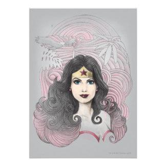 Wonder Woman Eagle and Trees Custom Invitations