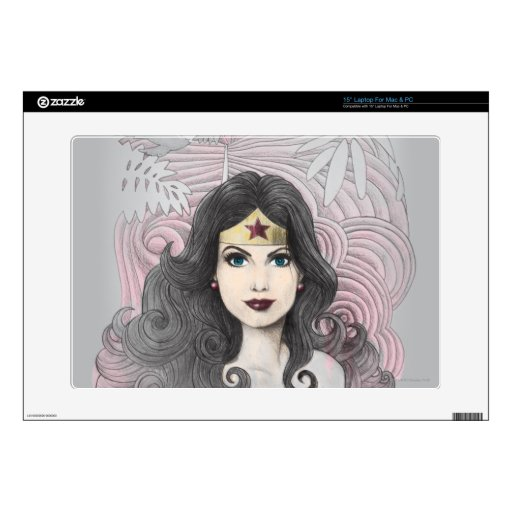 Wonder Woman Eagle and Trees Laptop Decal