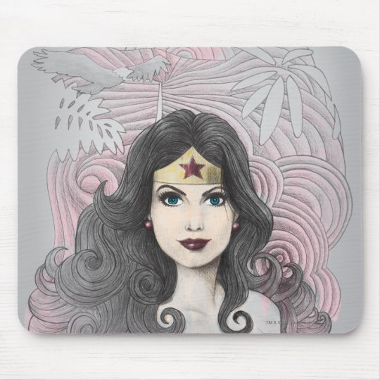 Wonder Woman Eagle and Trees Mouse Pad