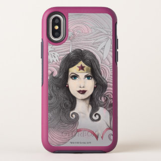 Wonder Woman Eagle and Trees OtterBox Symmetry iPhone X Case