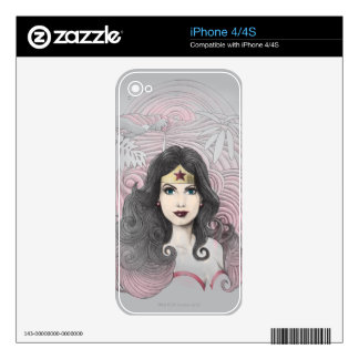 Wonder Woman Eagle and Trees Skin For The iPhone 4