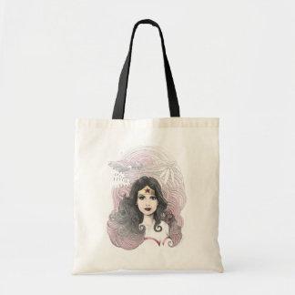Wonder Woman Eagle and Trees Tote Bag