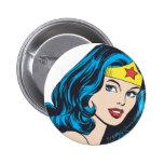 Wonder Woman Face 2 Inch Round Button