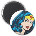 Wonder Woman Face 2 Inch Round Magnet