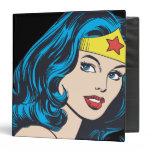Wonder Woman Face 3 Ring Binder
