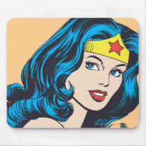 Wonder Woman Face Mouse Pad