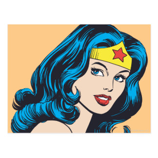 Wonder Woman Face Postcard