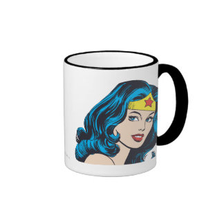 Wonder Woman Face Ringer Mug