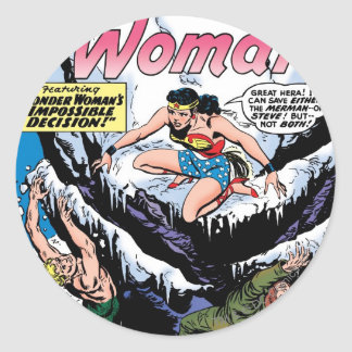 Wonder Woman Featuring Wonder Girl Classic Round Sticker