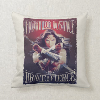 Wonder Woman Fight For Justice Throw Pillow