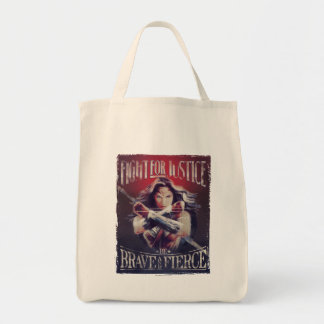 Wonder Woman Fight For Justice Tote Bag