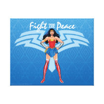 Wonder Woman - Fight For Peace Canvas Print