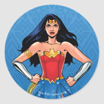 Wonder Woman - Fight For Peace Classic Round Sticker