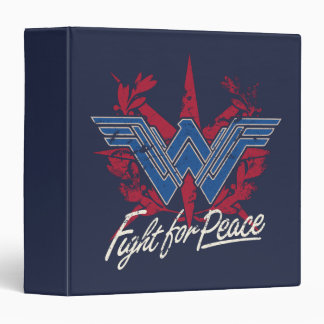 Wonder Woman Fight For Peace Symbol Binder