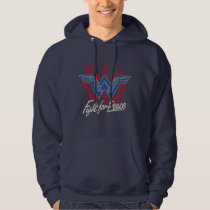 Wonder Woman Fight For Peace Symbol Hoodie