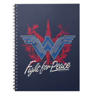 Wonder Woman Fight For Peace Symbol Spiral Notebook