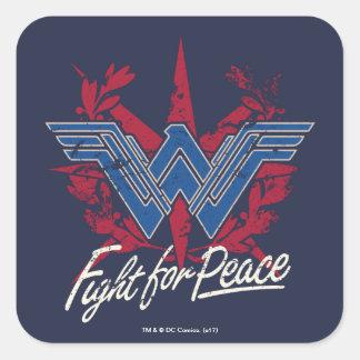 Wonder Woman Fight For Peace Symbol Square Sticker