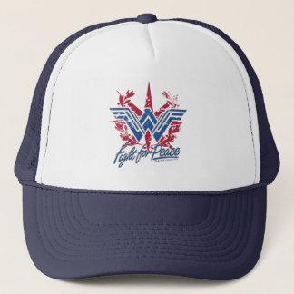 Wonder Woman Fight For Peace Symbol Trucker Hat