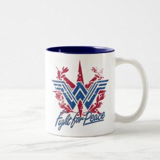 Wonder Woman Fight For Peace Symbol Two-Tone Coffee Mug