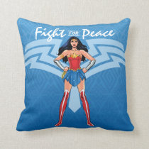 Wonder Woman - Fight For Peace Throw Pillow