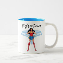 Wonder Woman - Fight For Peace Two-Tone Coffee Mug