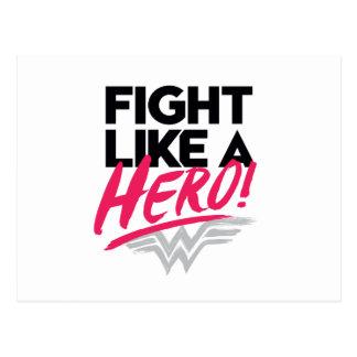 Wonder Woman - Fight Like A Hero Postcard
