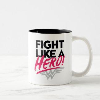 Wonder Woman - Fight Like A Hero Two-Tone Coffee Mug