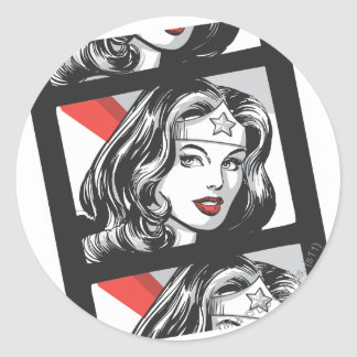 Wonder Woman Film Strip Classic Round Sticker