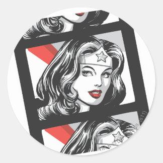 Wonder Woman Film Strip Classic Round Sticker
