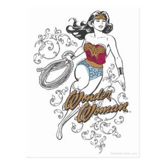 Wonder Woman Flourish Postcard