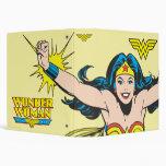 Wonder Woman Flying Forward 3 Ring Binder