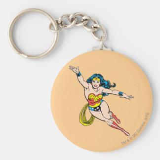 Wonder Woman Flying Forward Keychain
