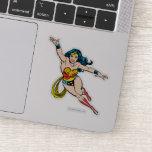 Wonder Woman Flying Forward Sticker