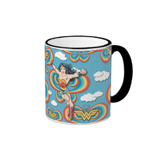 Wonder Woman Flying High Ringer Coffee Mug